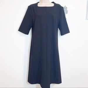 MM LaFleur 8 Black Square Neck Dress